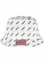 Klobúk MR.TEE NASA Allover Bucket Hat Farba: white, Grösse: one size