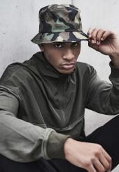 Klobúk Urban Classics Camo Bucket Hat green camo