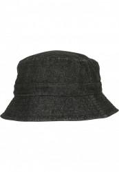 Klobúk Urban Classics Denim Bucket Hat black/grey