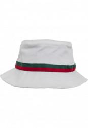 Klobúk Urban Classics Stripe Bucket Hat white/firered/green