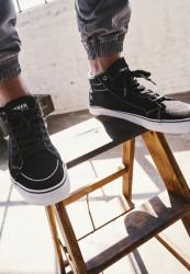 Kotníkové tenisky Urban Classics High Canvas Sneaker blk/wht #1