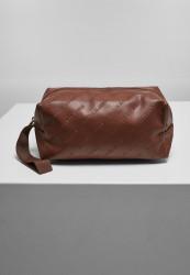 Kozmetická taška Urban Classics Imitation Leather Cosmetic Pouch brown