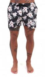 Kraťasy Sik Silk Retro Hawaii Shorts Black