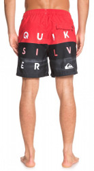 Kúpacie kraťasy Quiksilver Word Block Volley high risk red #2