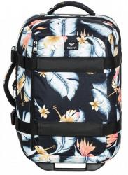 Kvetovaný kufor Roxy Wheelie anthracite 30l