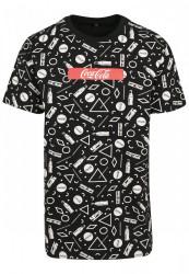MERCHCODE Coca Cola AOP Box Logo Tee Farba: black, #5