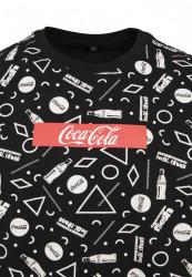 MERCHCODE Coca Cola AOP Box Logo Tee Farba: black, #7