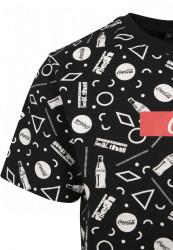 MERCHCODE Coca Cola AOP Box Logo Tee Farba: black, #8