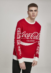 MERCHCODE Coca Cola Xmas Sweater Farba: red,