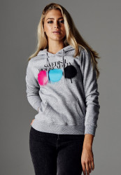 MERCHCODE Dámska mikina Ladies Swedish House Mafia Circle Hoody Farba: heather grey,