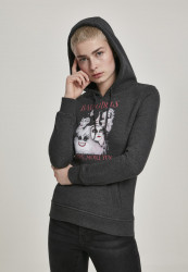 MERCHCODE Dámske tričko Ladies Bad Girls Have More Fun Hoody Farba: charcoal,