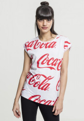 Merchcode Dámske tričko Ladies Coca Cola AOP Tee