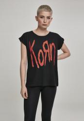 MERCHCODE Dámske tričko Ladies Korn Logo Tee Farba: black,