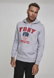 MERCHCODE FDNY Logo Hoody Farba: heather grey,