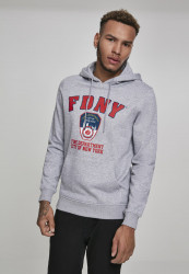 MERCHCODE FDNY Logo Hoody Farba: heather grey,