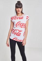 MERCHCODE Ladies Coca Cola AOP Tee Farba: white, #1