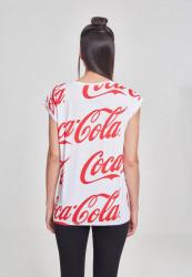 MERCHCODE Ladies Coca Cola AOP Tee Farba: white, #3