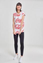 MERCHCODE Ladies Coca Cola AOP Tee Farba: white, #5