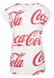 MERCHCODE Ladies Coca Cola AOP Tee Farba: white, #7