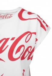 MERCHCODE Ladies Coca Cola AOP Tee Farba: white, #8