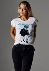 MERCHCODE Ladies Ed Sheeran Guitar Tee Farba: white,