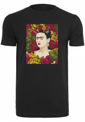 MERCHCODE Ladies Frida Kahlo Portrait Tee Farba: black,