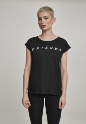 MERCHCODE Ladies Friends Logo Tee Farba: white,