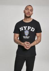 MERCHCODE NYPD Logo Tee Farba: black,