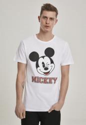MERCHCODE Pánske biele tričko Mickey College Tee Farba: white,