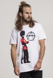MERCHCODE Pánske tričko Banksy Anarchy Tee Farba: white,