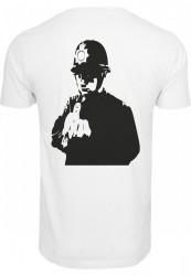 MERCHCODE Pánske tričko Banksy Officer Tee Farba: white, #2