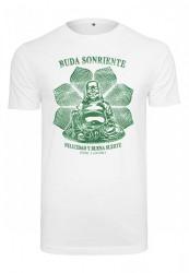 MERCHCODE Pánske tričko Buda Sonriente Farba: white,