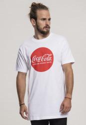 MERCHCODE Pánske tričko Coca Cola Round Logo Tee Farba: white,