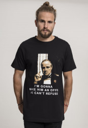 MERCHCODE Pánske tričko Godfather Refuse Tee Farba: black,