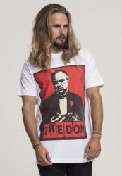 MERCHCODE Pánske tričko Godfather The Don Tee Farba: white,