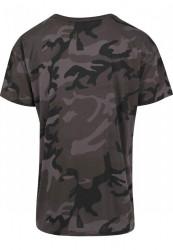 MERCHCODE Pánske tričko Hustler Logo Camo Tee Farba: dark camo, #7