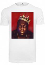 MERCHCODE Pánske tričko MR.TEE Notorious Big Crown Tee Farba: white,