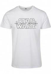 MERCHCODE Pánske tričko MR.TEE Star Wars Crawl Tee Farba: white, Grösse: XXL