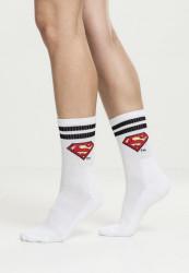 MERCHCODE Ponožky Superman Socks Double Pack Farba: black/white,