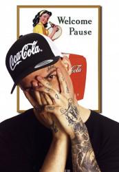 MERCHCODE Šiltovka Coca Cola Logo Trucker Cap blk/wht