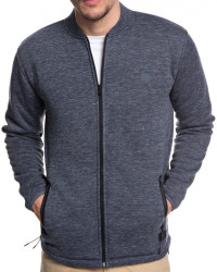 Mikina Quiksilver Kurow Sherpa Bomber blue nights heather