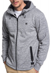 Mikina Quiksilver Kurow Sherpa light gray heather