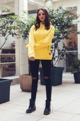 Mikina Sixth June Oversize Yellow