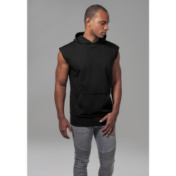 MIKINA URBAN CLASSICS OPEN EDGE SLEEVELESS BLACK