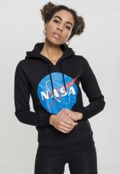 MR. TEE Dámska mikina Mister Tee Ladies NASA Insignia Hoody čierna