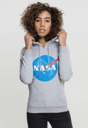 MR. TEE Dámska mikina Mister Tee Ladies NASA Insignia Hoody šedá