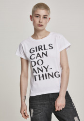 MR.TEE Dámske tričko Ladies Girls Can Do Anything Tee Farba: white,