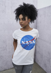 MR.TEE Ladies NASA Insignia Tee Farba: white,