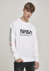 MR.TEE NASA US Crewneck Farba: white,