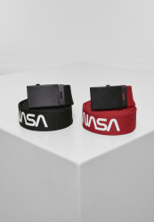 MR.TEE Opasok NASA Belt 2-Pack extra long Farba: black/red,